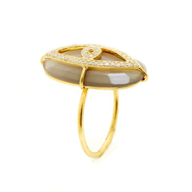 MOONSTONE EVIL-EYE RING. VERTICAL .