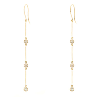 SWINGING LINE CHAMPAGNE DROP EARRINGS
