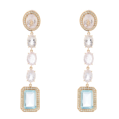 MORGANITE AND AQUAMARINE DROPS