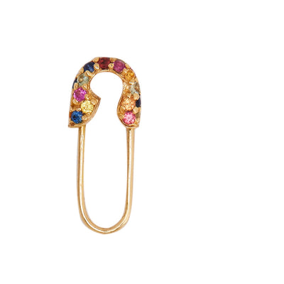 MULTI-SAPPHIRE SAFETY-PIN