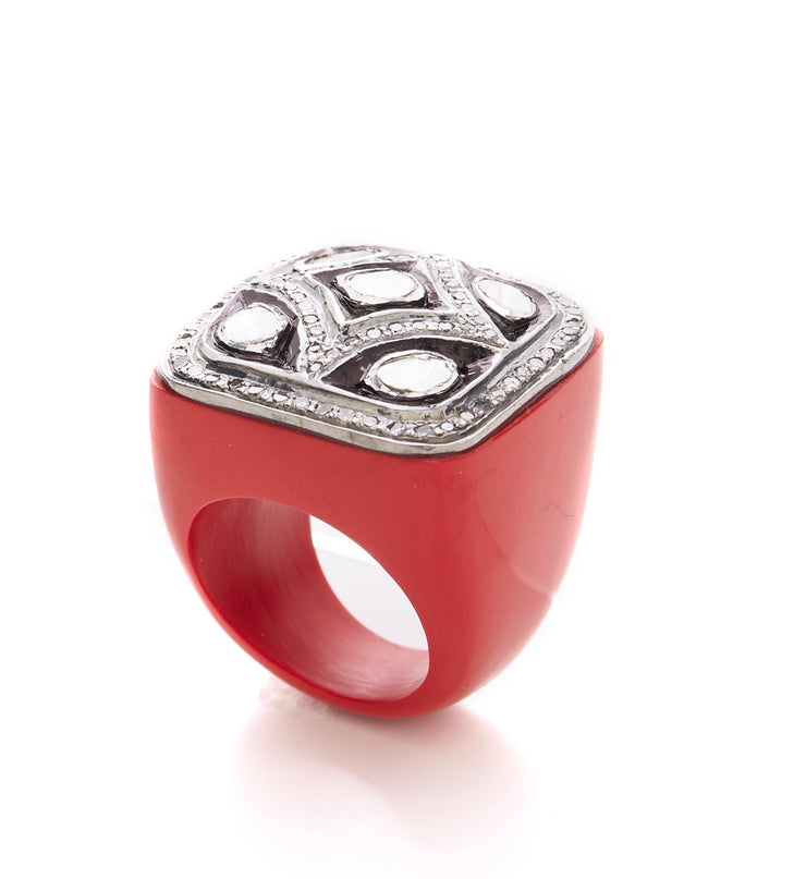 VALIANT RED ONYX RING