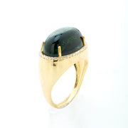 TOURMALINE AND DIAMOND STATEMENT RING (L)