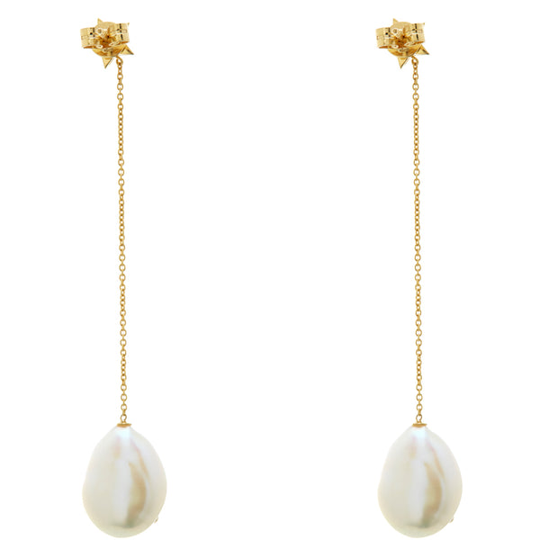 BAROQUE PEARL GALAXY DROPS