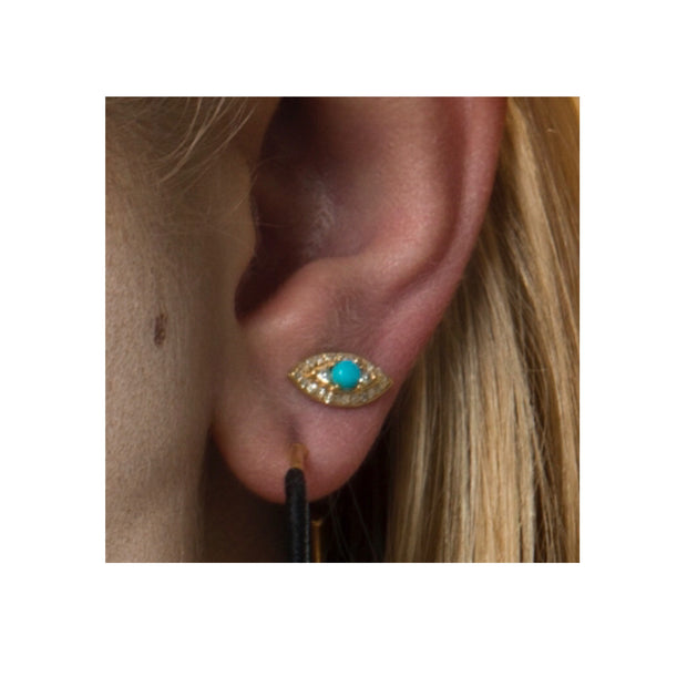 TURQUOISE EVIL-EYE STUDS