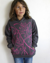 Load image into Gallery viewer, Koru Graffiti Hoodie Pink