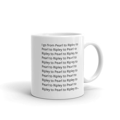 I go from Pearl to Ripley Mug