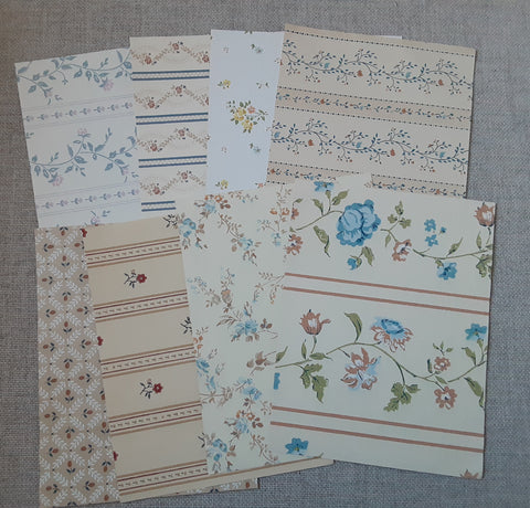 Country Cottage Wallpaper pack- Set of 8- SS