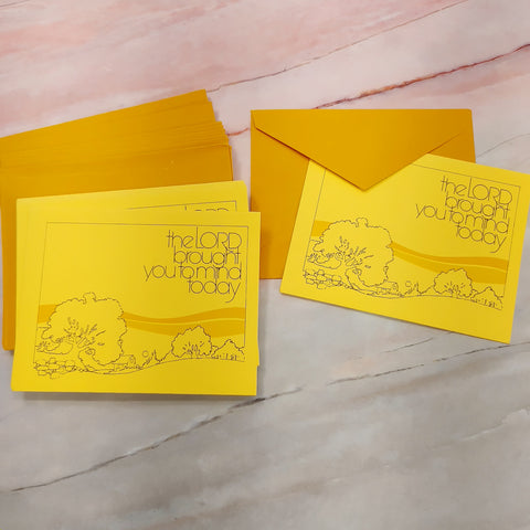 Yellow Religious Encouragement Cards  - LZ