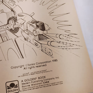 1985 Go Bots Coloring Book - LZ