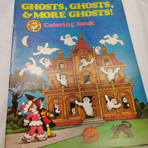 1990 Giant Ghosts Coloring Book - LZ