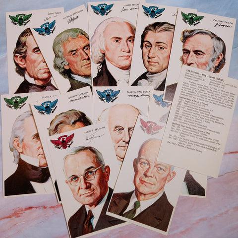 Vintage 1975 Presidents Flash Cards - LZ