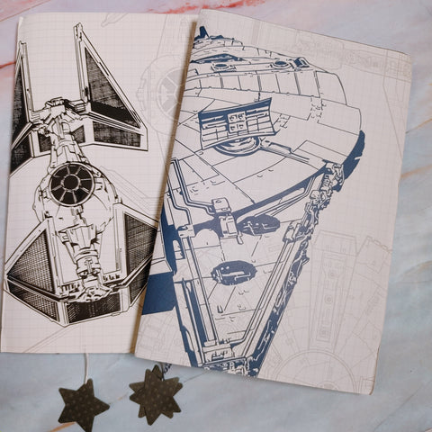 Space Junk Journal Set of 2 by Dawn Orahood