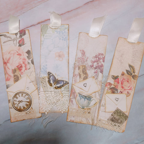 Shabby Chic Pocket Sleeve Tags - Diana