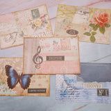 Collaged Journal Cards set of 5 - Diana