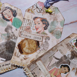 Retro Collaged Tags - Barb H.