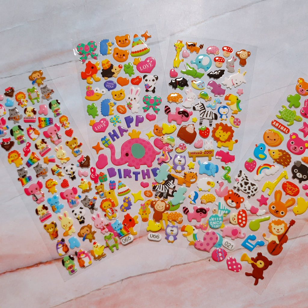 Animal Puffy Stickers 4 sheets - LZ
