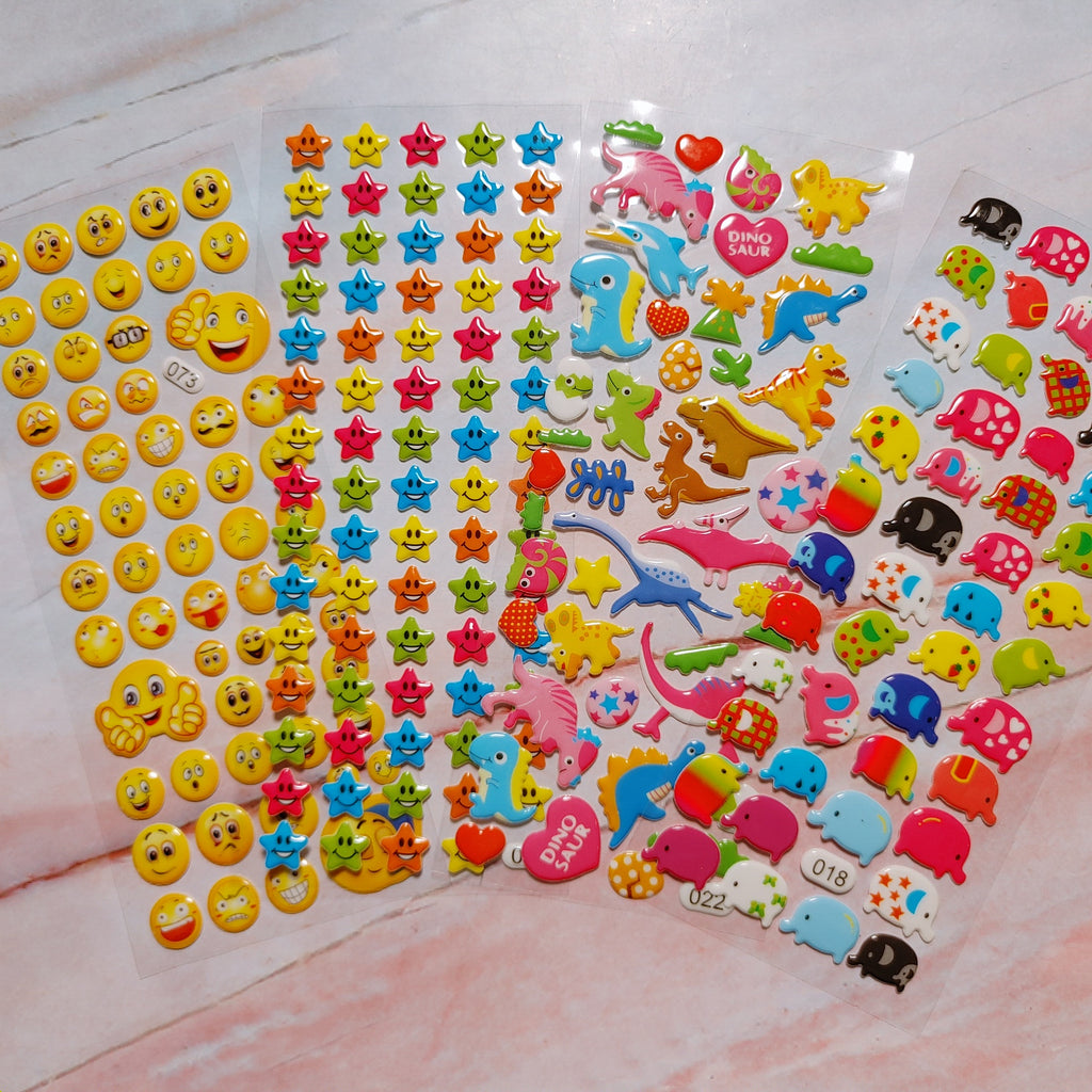 Happy Puffy Stickers 4 sheets - LZ