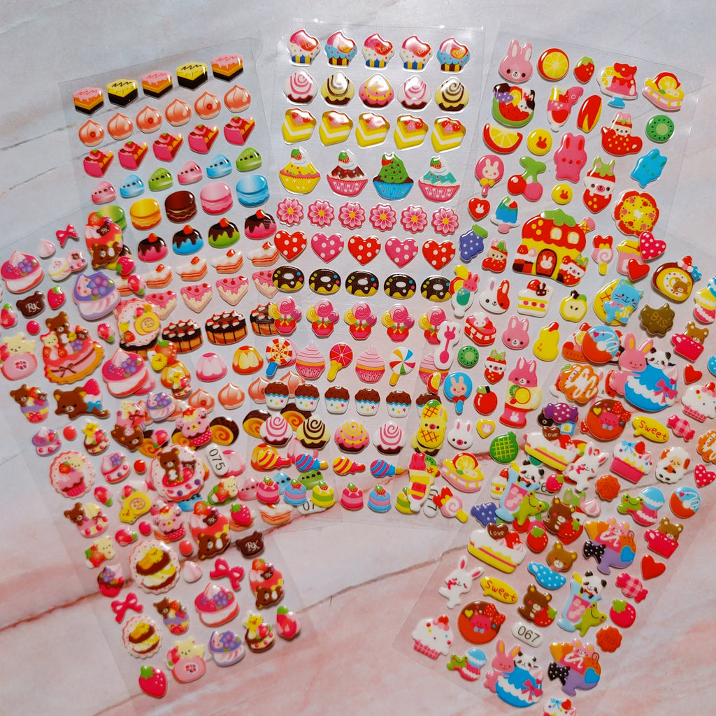 Sweets Puffy Stickers 5 sheets - LZ