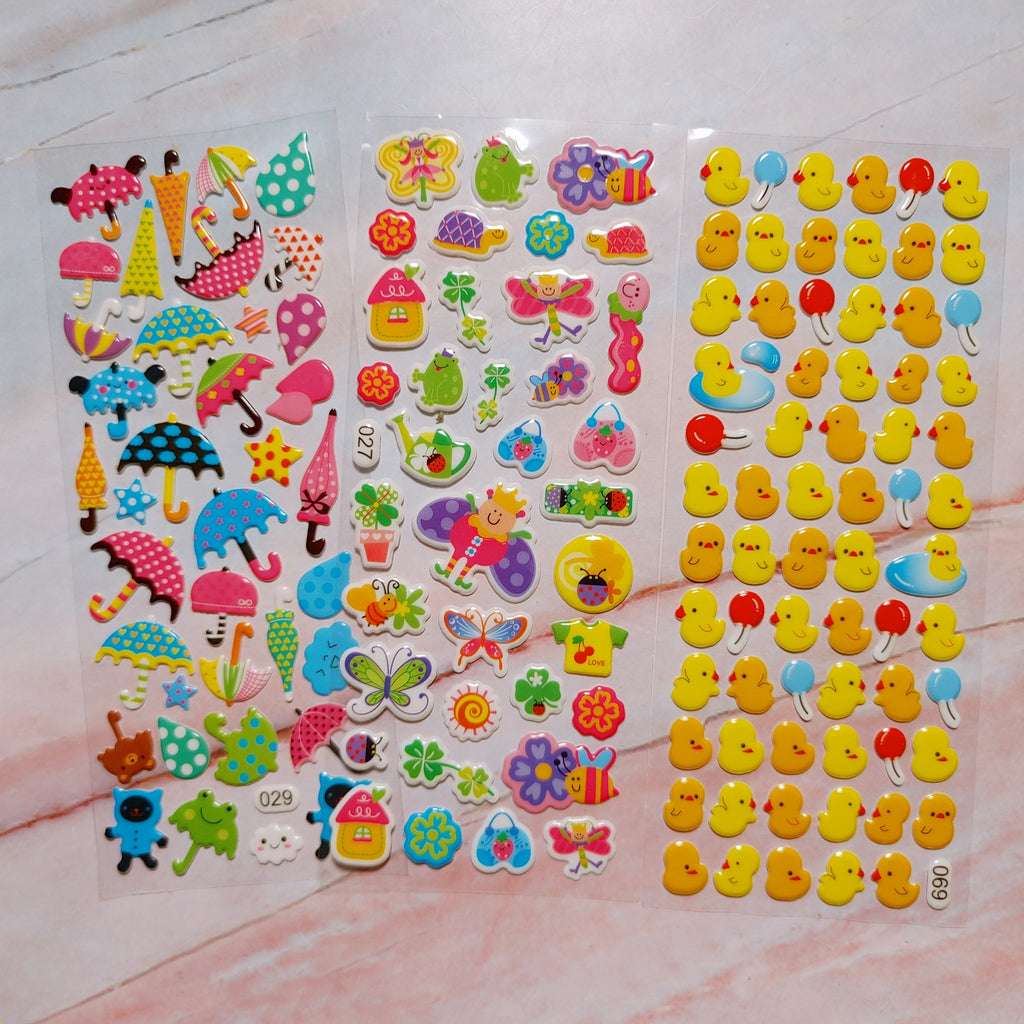 Springtime Puffy Stickers 2 sheets - LZ