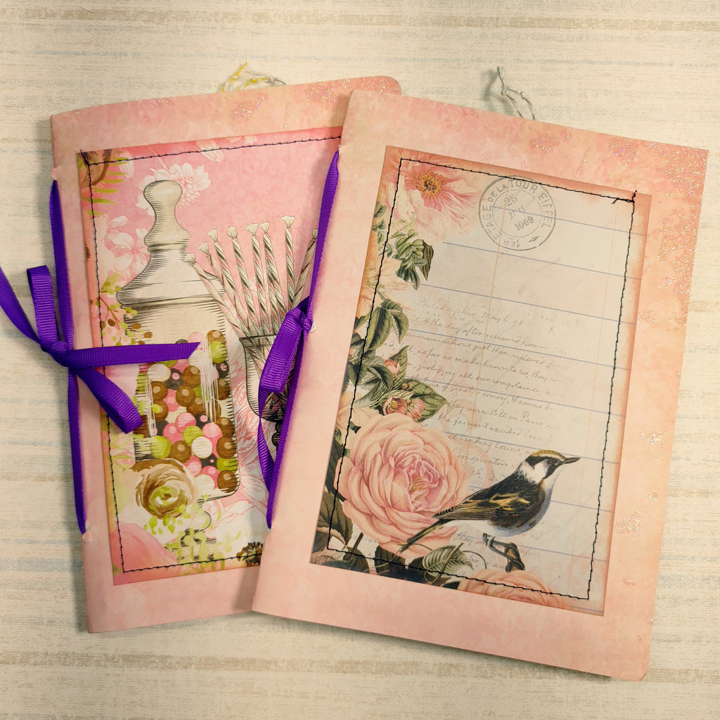 Set of 2 Unembellished Pink Journals - Diana