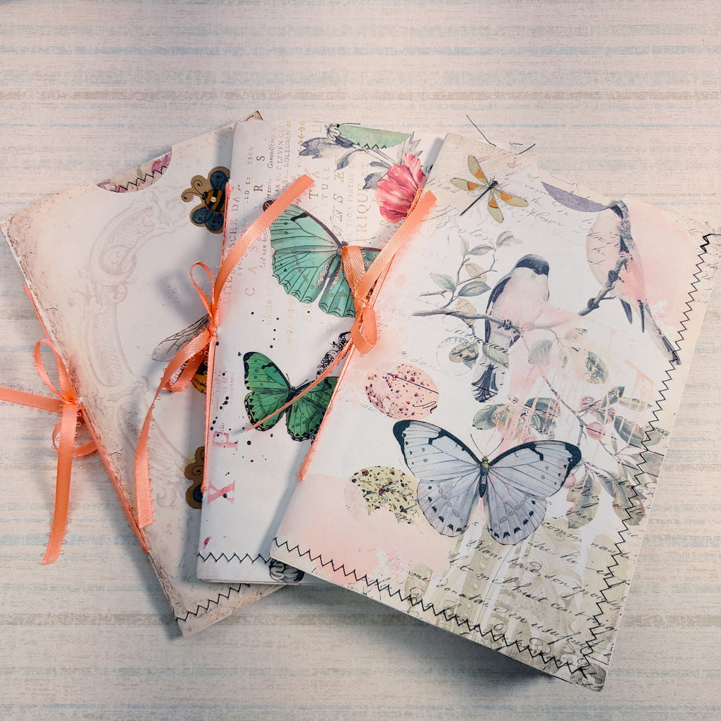 Set of 3 Soft & Pretty Journals - Diana