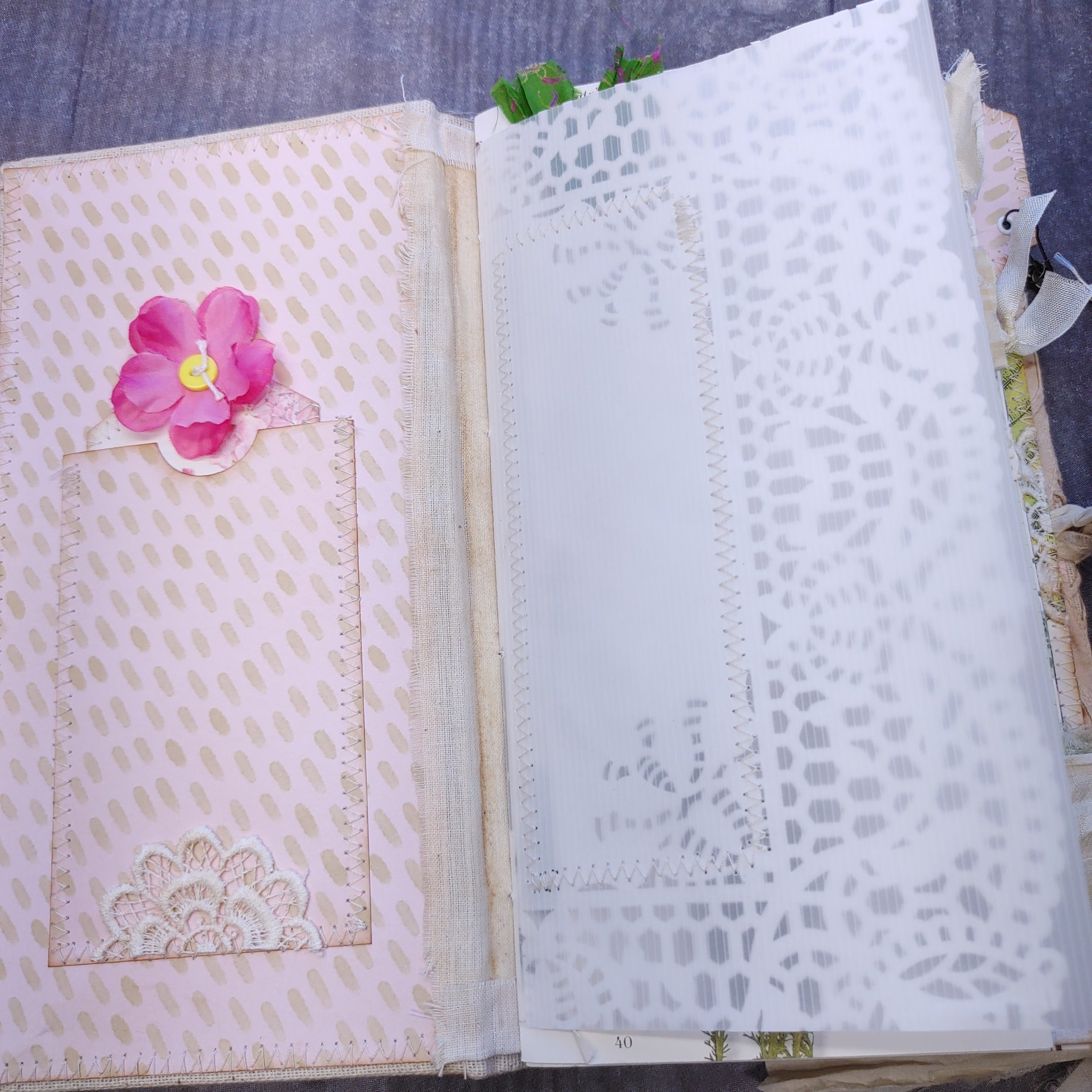 Battenburg Lace Journal by Lonny
