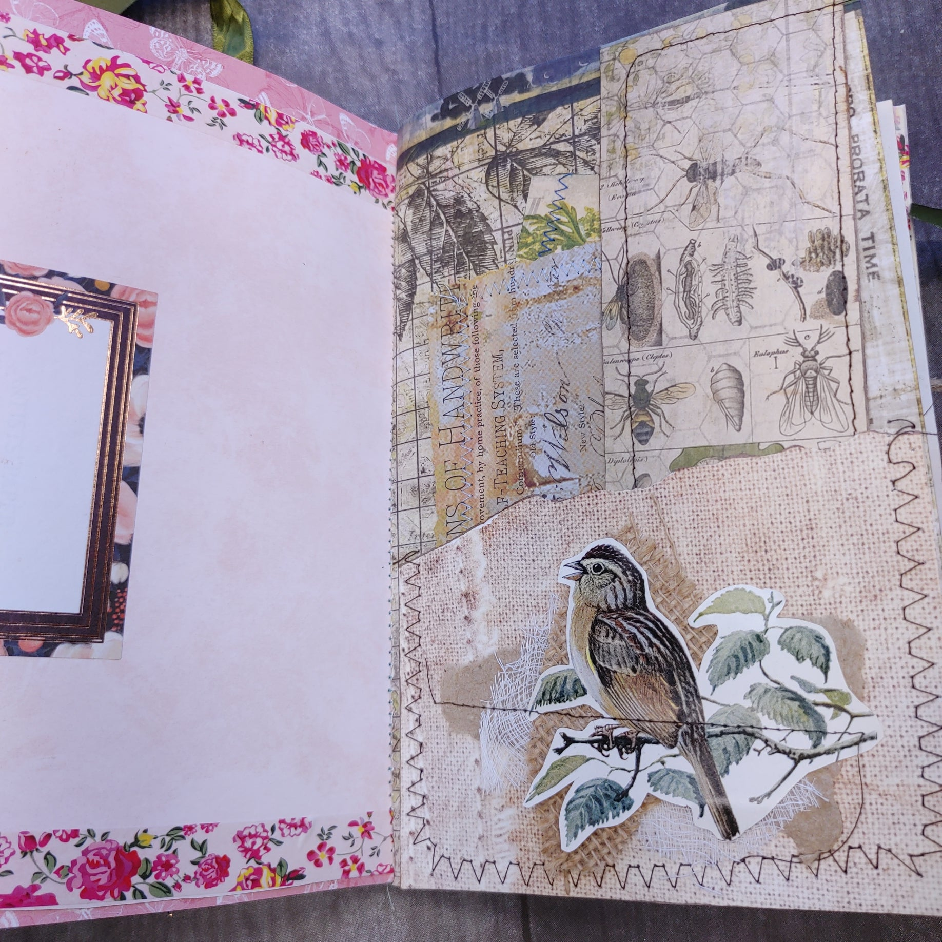 Birds & Blooms Junk Journal by Cheryl Gorman
