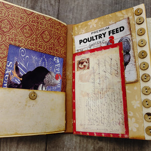 Roosters & Chickens Junk Journal by Lana Feeback