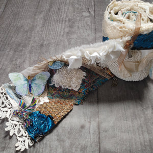 Textile Blue Snippet Roll - Barb H.