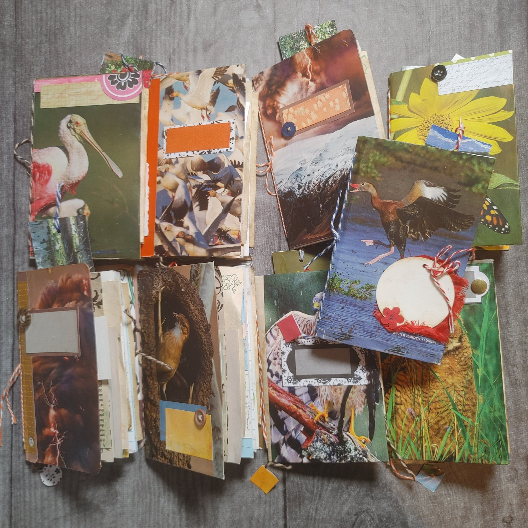 Set of 9 Mini Junk Journals - Wendy Young
