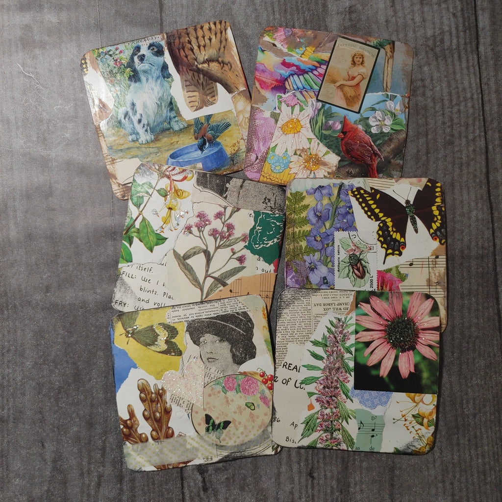 Square Collaged Journal Cards - Barb H.