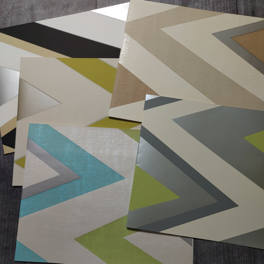 Bold Chevron Wallpaper Collection  - LZ