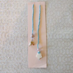 Teal Floral Beaded Bookmark - Barb H.