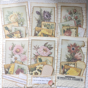 Stuffed Floating Journal Cards - Tami