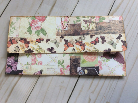 Handmade Envelope and 8 Collaged Pieces-JH
