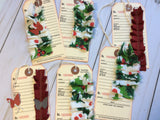 Christmas Pocket with 7 Sweet Christmas Tags - JH