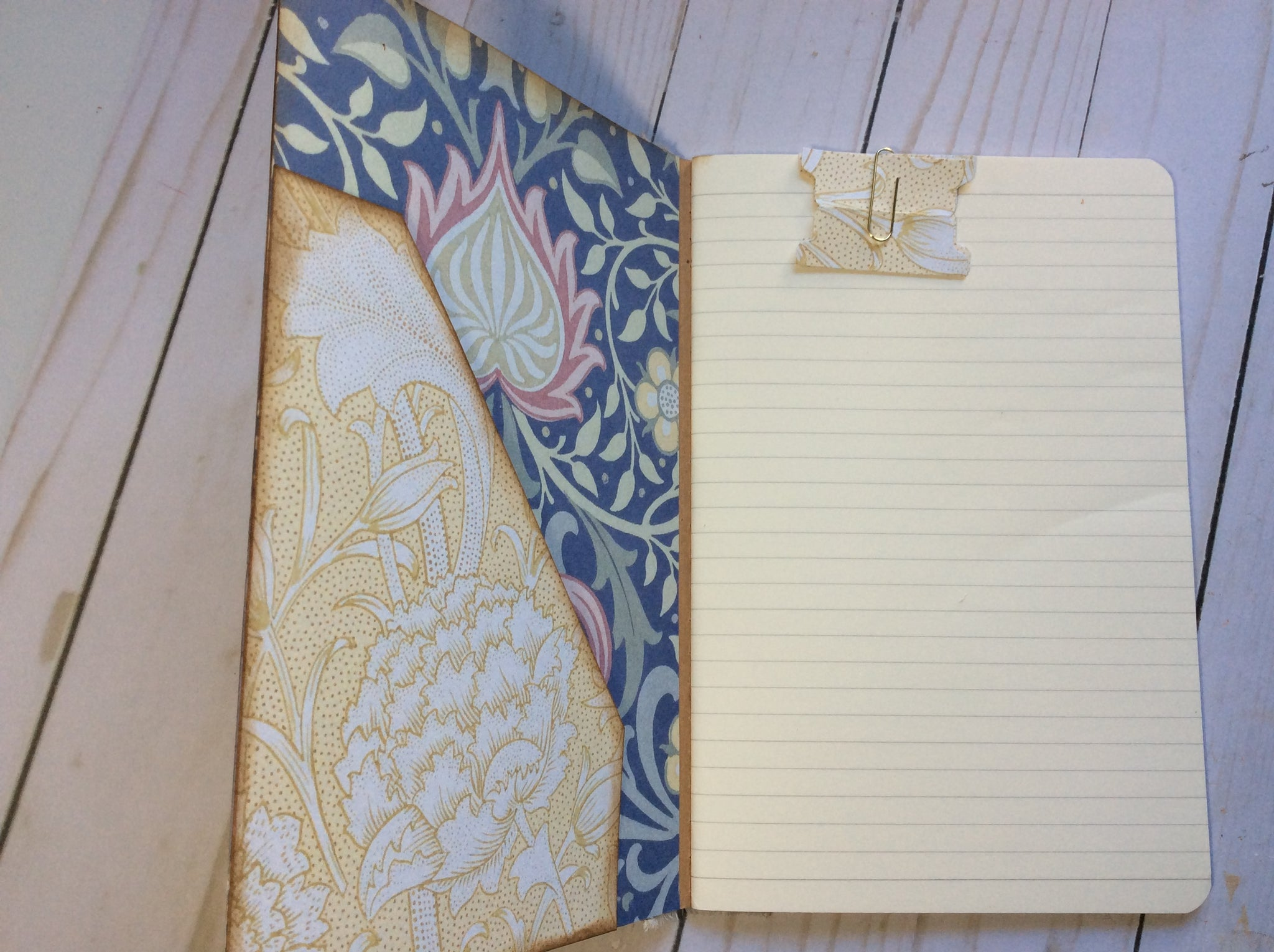 William Morris Altered Notebook #1 by Jo Ann