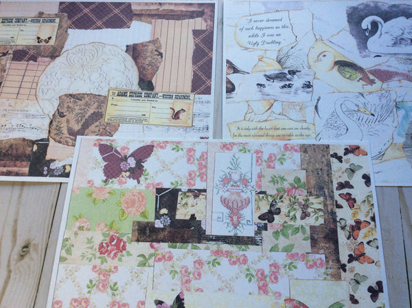 Printed Collage Sheets - JH