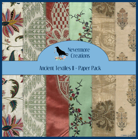 Ancient Textiles II DIGITAL Paper Pack