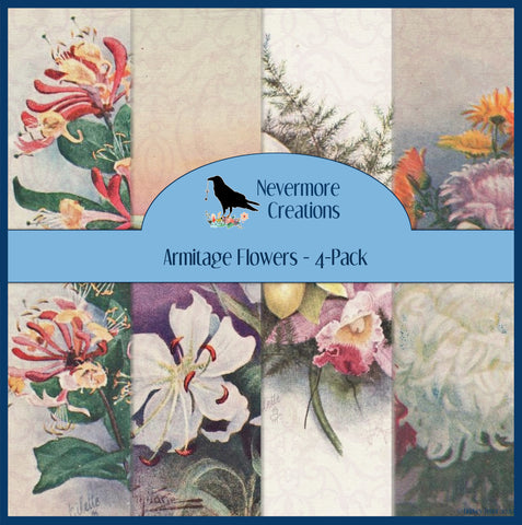 Armitage Flowers PRINTED Booster Paper Pack - 4 Pages