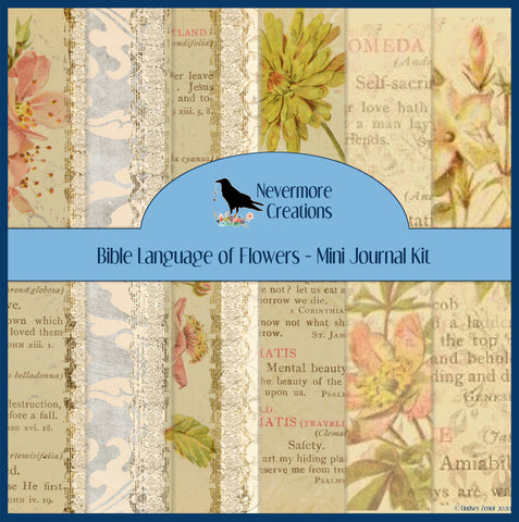 Bible Language of Flowers PRINTED Journal Kit