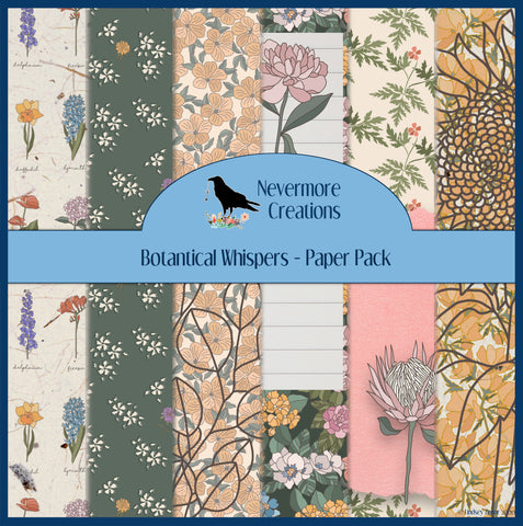 Botanical Whispers DIGITAL Paper Pack