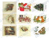 Christmas Cheer PRINTED Ephemera Pack 45 Holiday Images