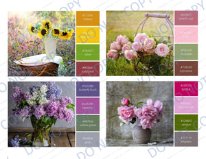 Color Scheme Bouquets PRINTED Journal Cards