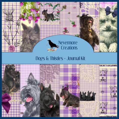 Dogs & Thistles DIGITAL Junk Journal Kit