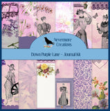Down Purple Lane PRINTED Journal Kit