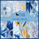 Forever Blue DIGITAL Paper Pack