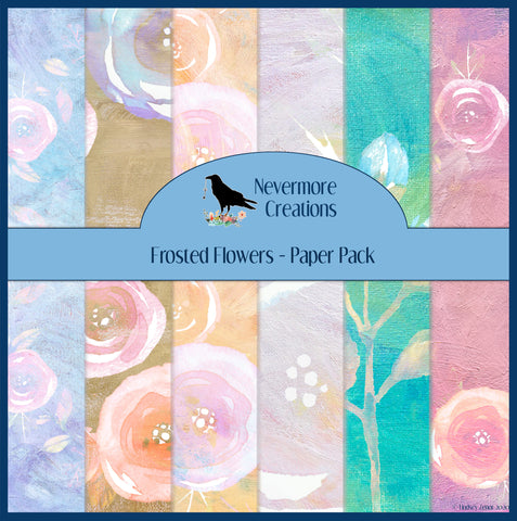 Frosted Flowers DIGITAL Paper Pack