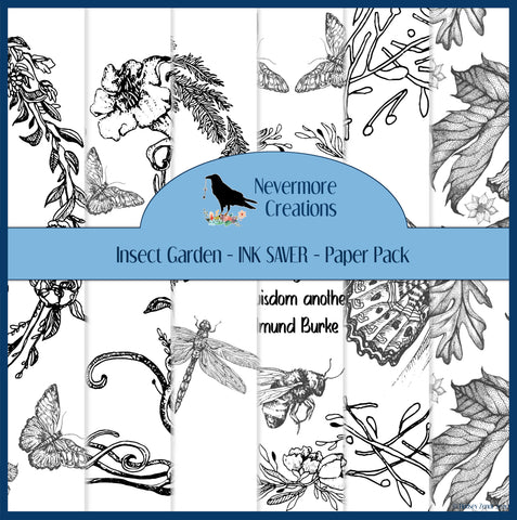 INK SAVER Insect Garden DIGITAL Paper Pack