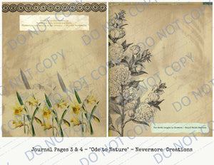 Ode to Nature DIGITAL Journal Kit